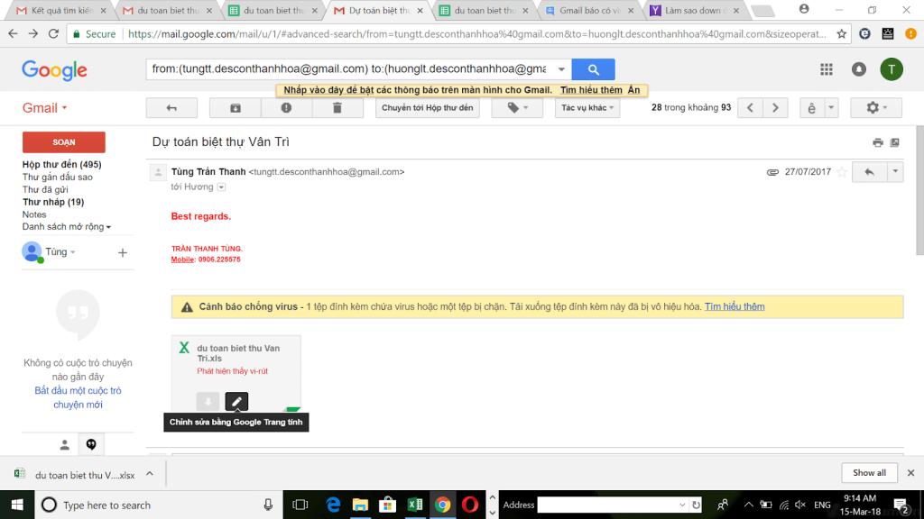 gmail bao mat cao