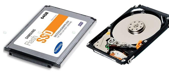 Phân biệt ổ cứng HDD và SSD
