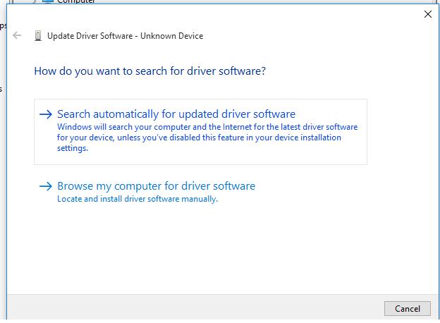 Tìm kiếm driver phù hợp cho máy tính Win 10
