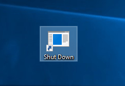 tạo shutcut shutdown win 10