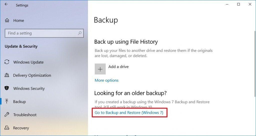 tạo file backup