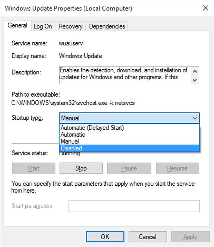 Hướng dẫn cách tắt update Win 10 bằng  services.msc