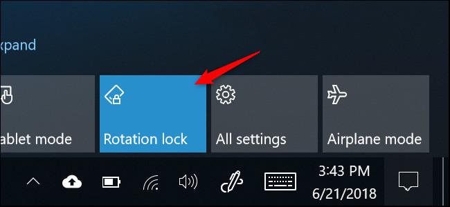 Nhấn Roatation Lock