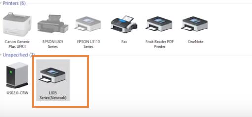 Cài máy in epson L805 in qua mạng wifi
