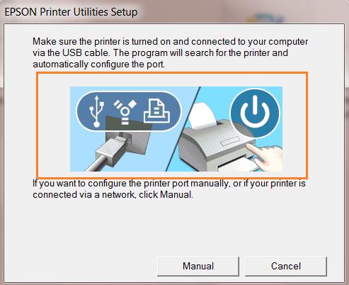 Cắm cáp usb kết nối máy in epson l800 với máy tính
