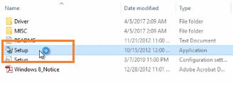 Chạy file setup cài driver máy in cho máy tính