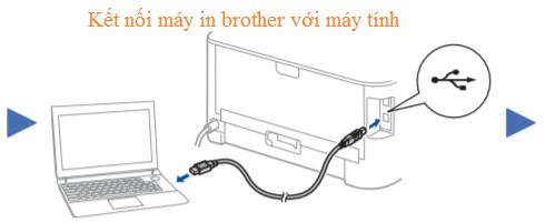 Kết nối máy in brother với máy tính