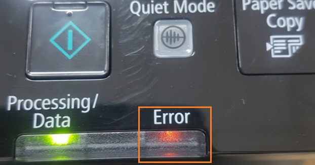 Máy in Canon MF214d báo đèn đỏ error