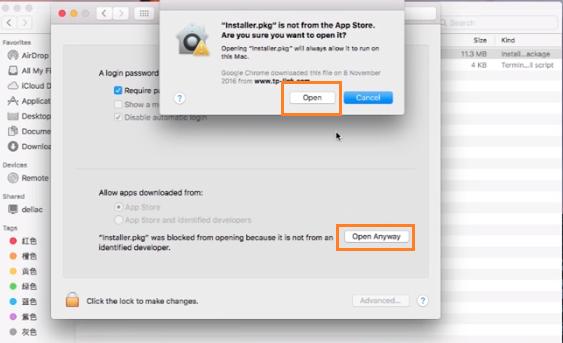 Tắt thông báo lỗi khi cài đặt trên macbook