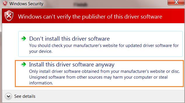Thông báo cài đặt driver máy in hp 1200