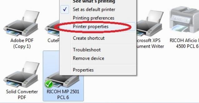 Thiết lập chọn khổ giấy máy photo ricoh