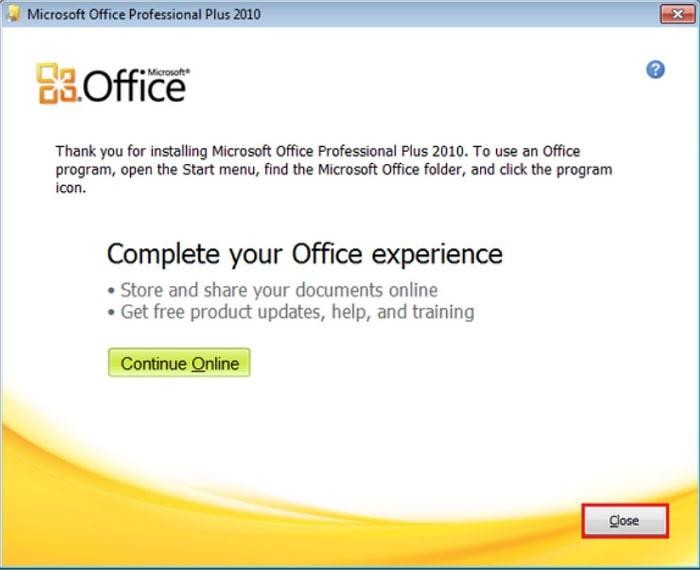Hướng dẫn cài đặt microsoft office word excel 2010