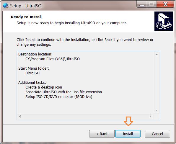Cài ultraiso window 10 7