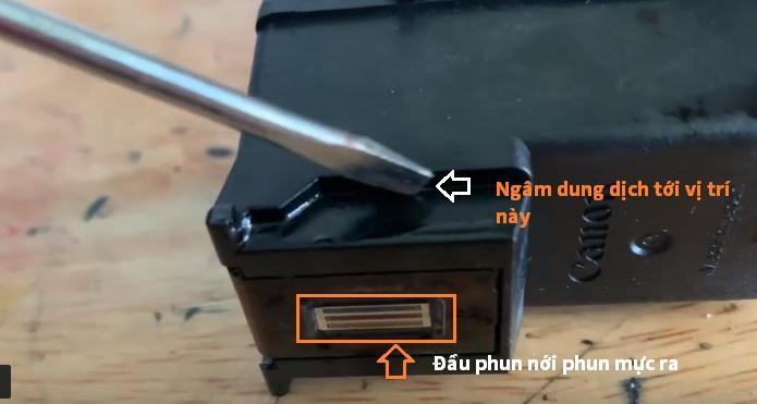 Cách vệ sinh đầu phun máy in Canon