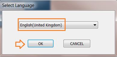 Chọn ngôn ngữ cài đặt máy in