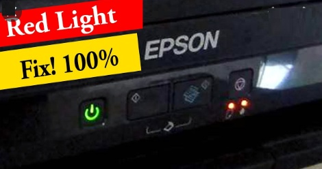 Epson L360 nháy 2 đèn liên tục