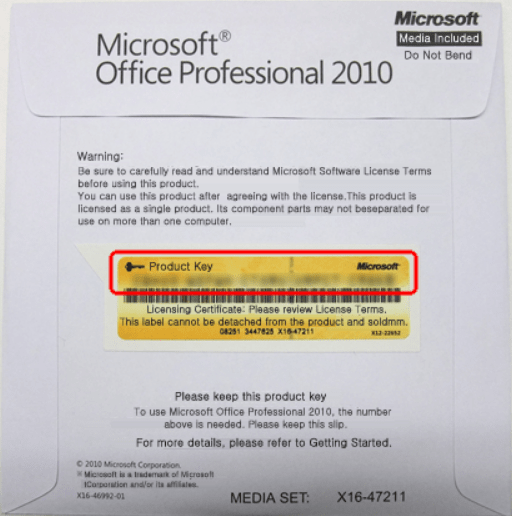 Key đĩa dvd office 2010 bản quyền microsoft