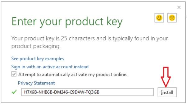 Nhập key active microsoft office 2013 bản quyền