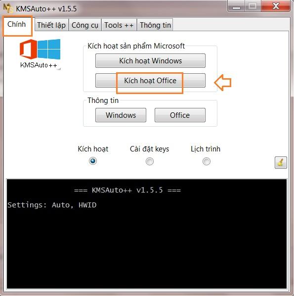 Sử dụng phần mền KMSauto net active office 2013