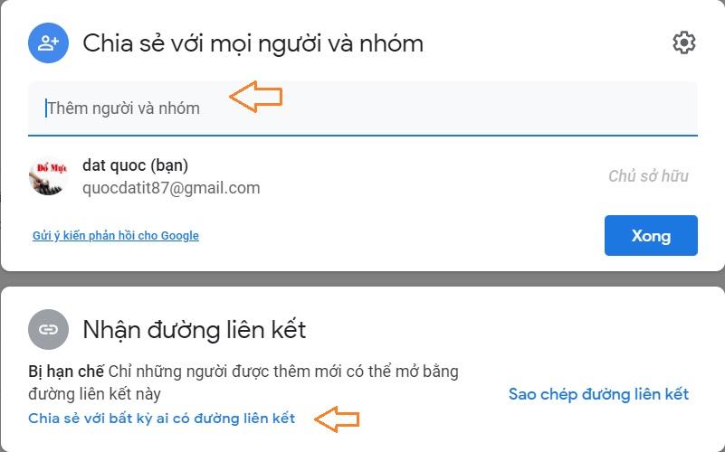 Cách chia sẽ file thư mục google driver với nhiều người