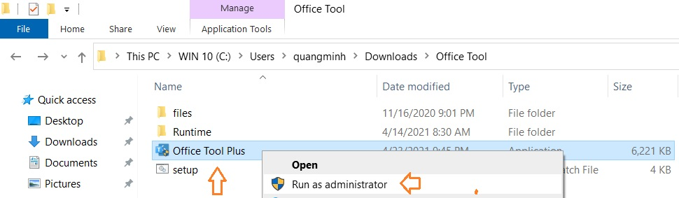 Chạy Office tool Plus