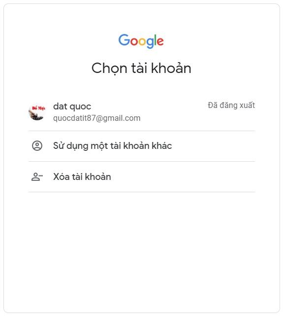 Nhập tài khoản google driver