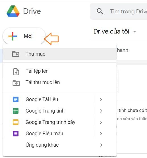 Tải thư mục tập tin file lên google driver